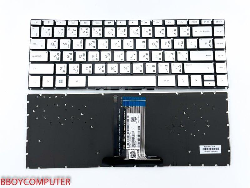 HP Keyboard คีย์บอร์ด HP X360 14-BA สีเทา