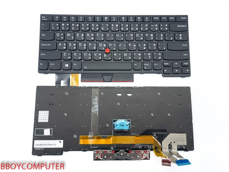 LENOVO Keyboard คีย์บอร์ด  Lenovo Thinkpad E480 E485 L480 L380 Yoga T480S สกรีนไทย ไม่คม