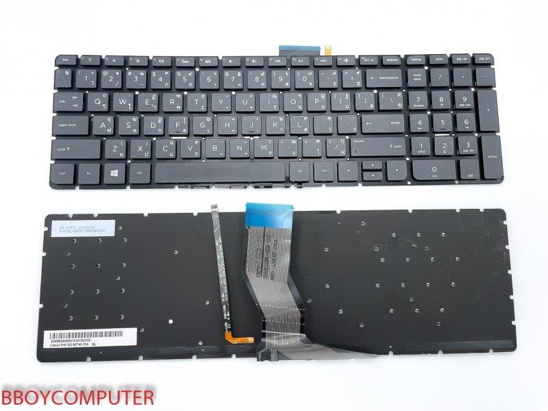 HP Keyboard คีย์บอร์ด HP Envy X360 15-AR 15-AQ ไทย อังกฤษ มีไฟ backlite