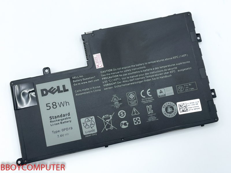 DELL Battery แบตเตอรี่ Dell Inspiron OPD19 15 5442 5445 5447 5547 5448 ใชกับ Part OPD19 เท่านั้น